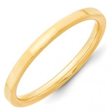 14KY 2mm Standard Flat Comfort Fit Band Size 10