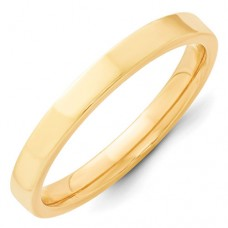14KY 3mm Standard Flat Comfort Fit Band Size 10