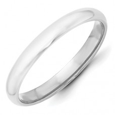 10KW 3mm Half Round Band Size 7