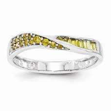 14k White Gold Yellow Diamond Band