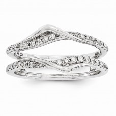 14K White Gold Diamond Ring Guard