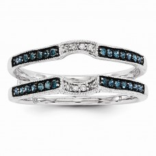 14k White Gold Blue & White Diamond Guard