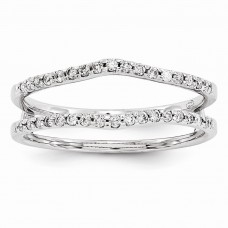 14k White Gold Diamond Guard