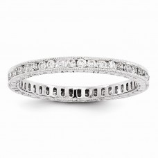 14k White Gold AA Diamond Eternity Band