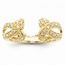 14k Yellow Gold Diamond Ring Wrap
