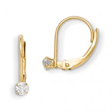 14k Madi K Leverback 3mm CZ Earrings