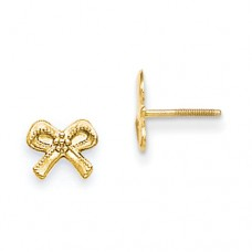 14k Madi K Bows Screwback Earrings