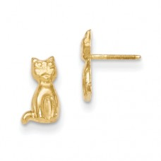 14k Madi K Cat Earrings