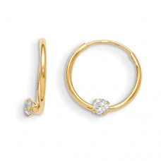 14k Madi K Endless CZ Hoop Earrings