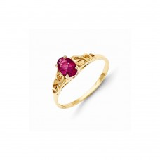 14k Madi K Synthetic Ruby Ring