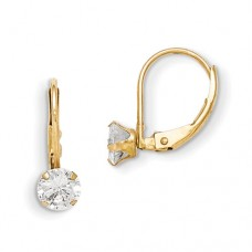 14k Madi K Leverback 5mm CZ Earrings