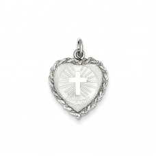 Sterling Silver Baptism Disc Charm