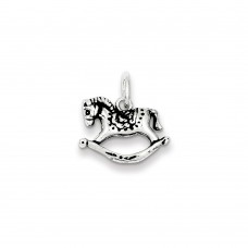 Sterling Silver Antiqued Rocking Horse Charm