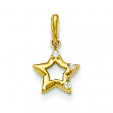 14k CZ Children's Star Pendant