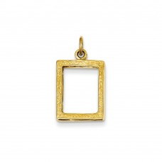 14k Small Picture Frame Pendant