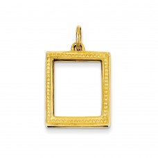 14k Picture Frame Pendant