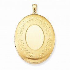 14k Gold Filled 34mm 2-Frame Oval Locket