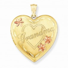 14k Gold Filled Two-color 4-Frame Grandma Heart Locket