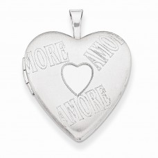 Sterling Silver 20mm with AMORE Heart Locket