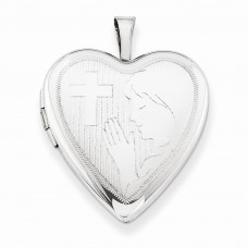 Sterling Silver 20mm Girls Communion Heart Locket