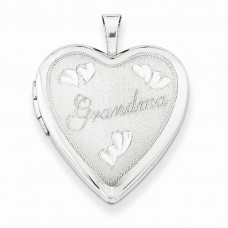 Sterling Silver 20mm Grandma  Heart Locket