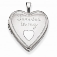 Sterling Silver 20mm Forever In My Heart Locket