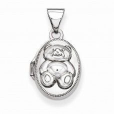 Sterling Silver Teddy Bear Locket