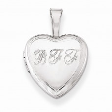 Sterling Silver BFF 12mm Heart Locket