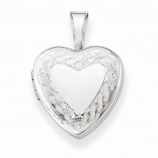 Sterling Silver Twisted Border 12mm Heart Locket