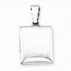 Sterling Silver 21mm Square Plain Locket