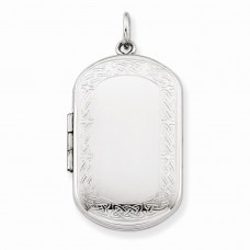 Sterling Silver Celtic Border Rectangular Locket