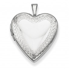 Sterling Silver Braided Edge Heart Locket