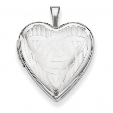 Sterling Silver Trinity Heart Locket
