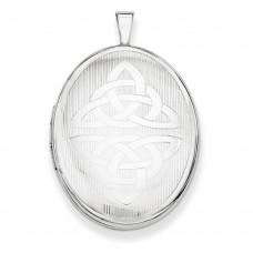 Sterling Silver Trinity Oval Locket