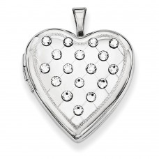 Sterling Silver Swarovski Elements Heart Locket