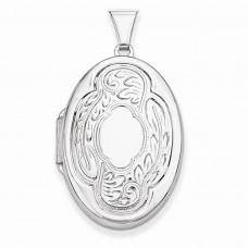 Sterling Silver Scrolled Locket