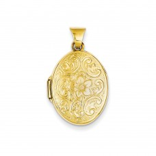 14k Scrolled Floral Locket