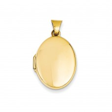 14k Polished Oval Locket