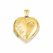 14k Diamond Family Heart Locket