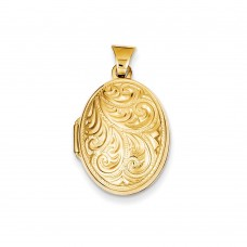 14k Domed Oval Locket