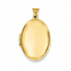 14k Polished Domed Oval Locket