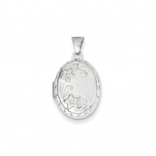 14k White Gold Locket