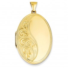 14k Oval Heavy Weight Locket