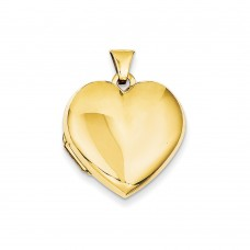 14k Plain Heart Family Locket