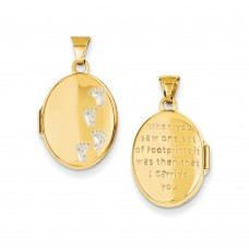 14k Footprints Locket