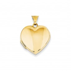 14k Plain Heart Locket