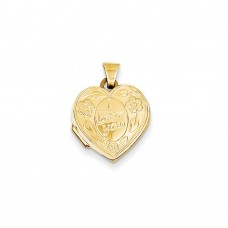 14k I Love You Heart Locket