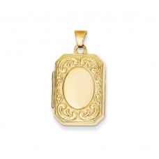 14k Rectangle Locket
