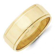 10KY 8mm Flat with Step Edge Band Size 10