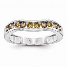 14k White Gold Champagne Diamond Band